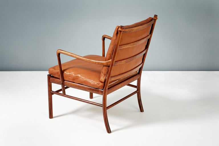 Danish Ole Wanscher Pair of Rosewood Colonial Chairs, 1950s For Sale