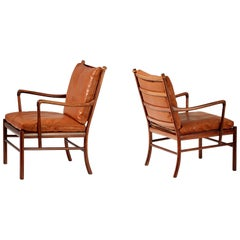 Ole Wanscher Pair of Rosewood Colonial Chairs, 1950s