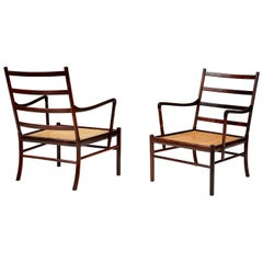 Ole Wanscher Pair of Rosewood Colonial Chairs