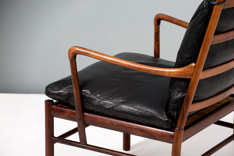 Danish Ole Wanscher Pair of Vintage Rosewood Colonial Chair, 1950s For Sale