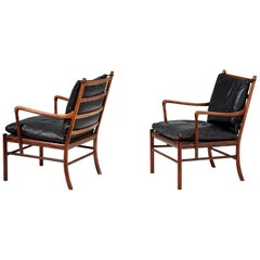 Ole Wanscher Pair of Vintage Rosewood Colonial Chair, 1950s