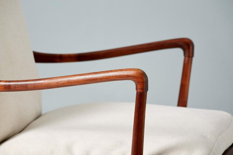 Ole Wanscher Pair of Vintage Rosewood Colonial Chairs, 1950s For Sale 3