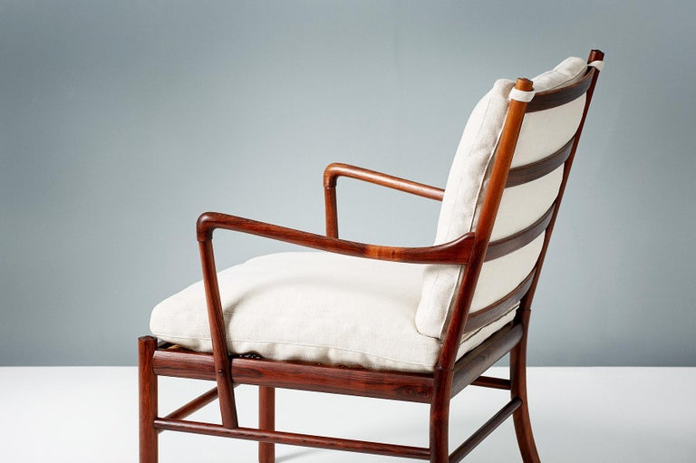 Scandinavian Modern Ole Wanscher Pair of Vintage Rosewood Colonial Chairs, 1950s For Sale