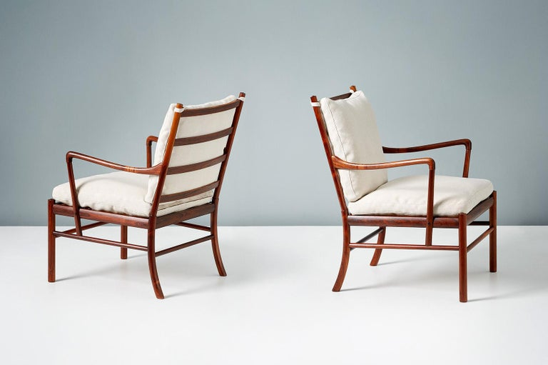 Danish Ole Wanscher Pair of Vintage Rosewood Colonial Chairs, 1950s For Sale