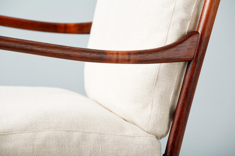 Ole Wanscher Pair of Vintage Rosewood Colonial Chairs, 1950s For Sale 1