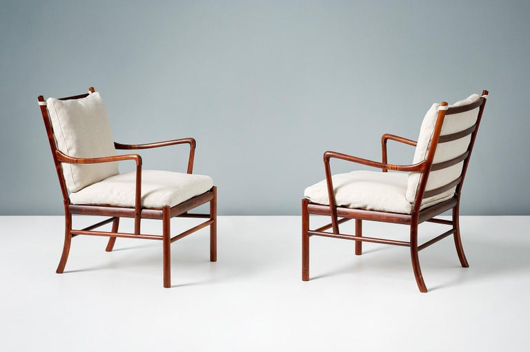 Ole Wanscher Pair of Vintage Rosewood Colonial Chairs, 1950s For Sale 2