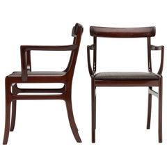 Ole Wanscher Refined Armchair in Original Horsehair Upholstery Denmark
