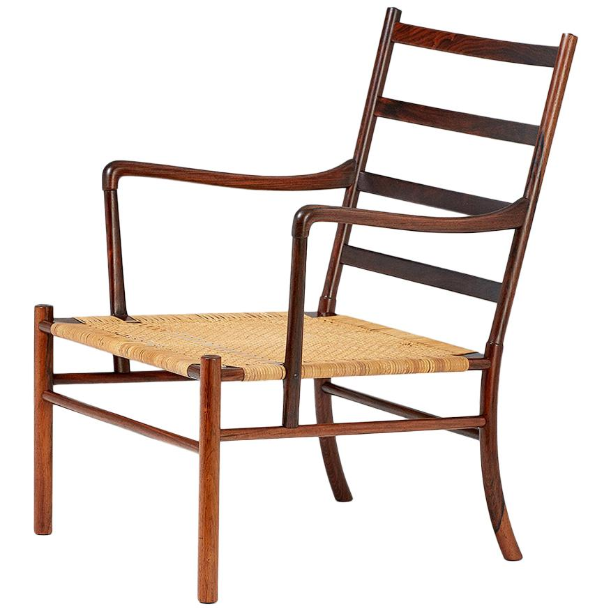 Ole Wanscher Rosewood 1st Edition Colonial Chair, 1949