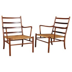 Ole Wanscher Rosewood 1st Edition set of Colonial Chairs, 1949