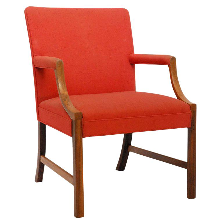 Ole Wanscher Rosewood Armchair For Sale