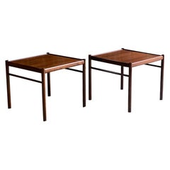Ole Wanscher Rosewood Colonial Side Tables by Poul Jeppesens, circa 1950