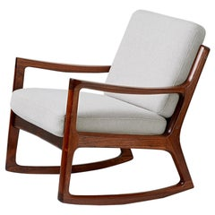 Ole Wanscher Rosewood Rocking Chair, circa 1960
