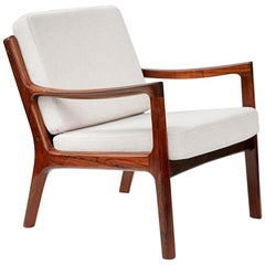 Ole Wanscher Rosewood Senator Lounge Chair