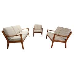 """Ole Wanscher """"Senator"""" Living Room Set For France & Søn, 1960, Denmark"""