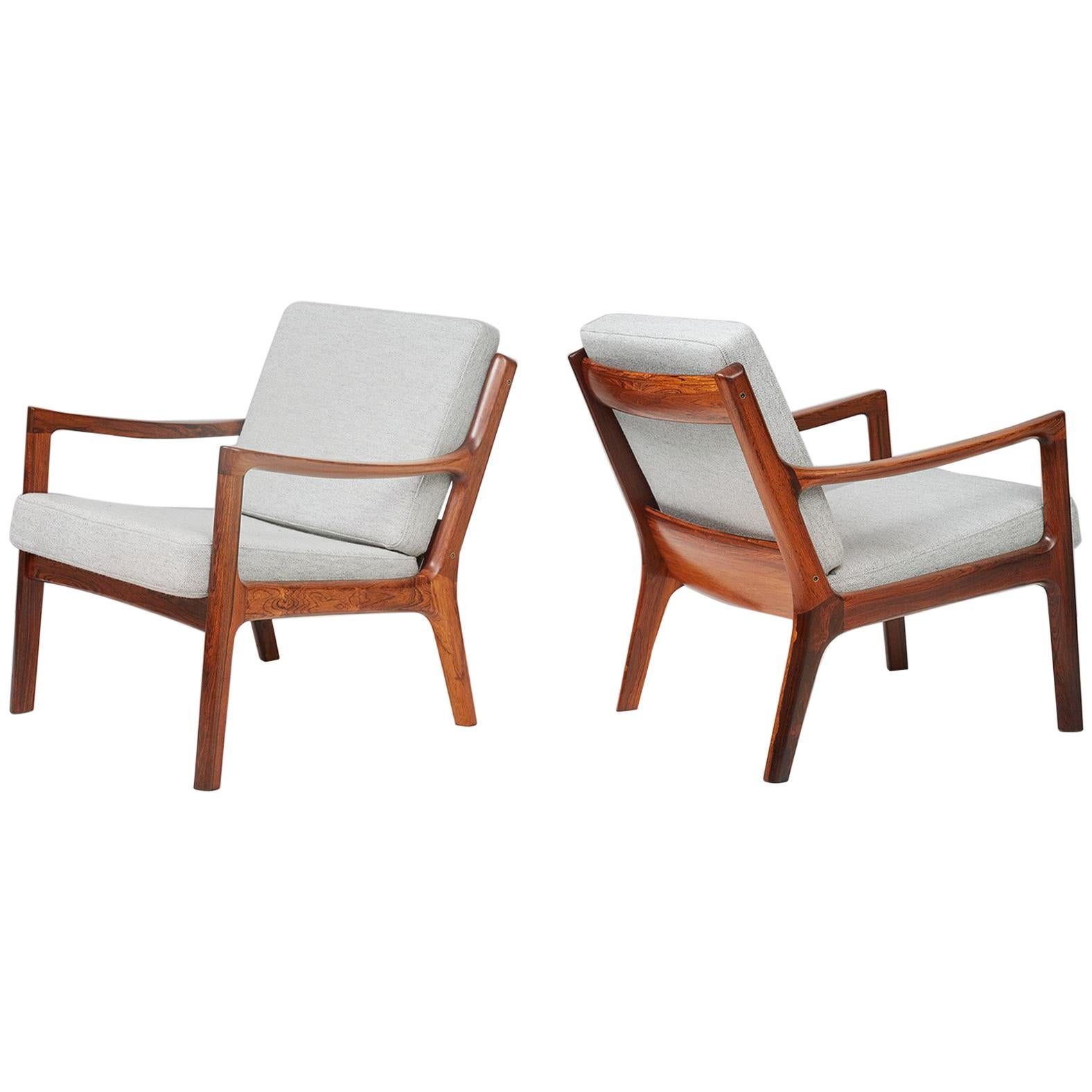 Ole Wanscher Senator Lounge Chairs, circa 1960