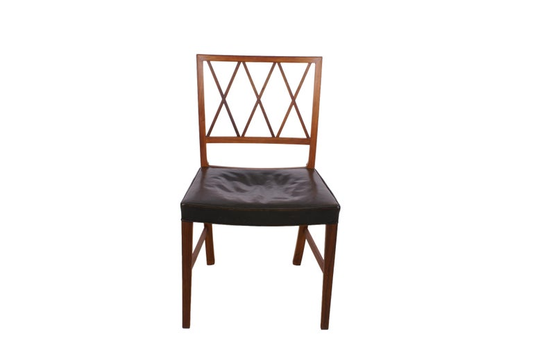 Ole Wanscher Set of 8 Dining Chairs, Rosewood by Cabinetmaker A.J. Iversen, 1942 For Sale 4