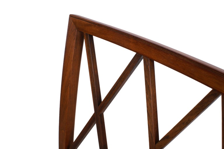 Ole Wanscher Set of 8 Dining Chairs, Rosewood by Cabinetmaker A.J. Iversen, 1942 For Sale 5