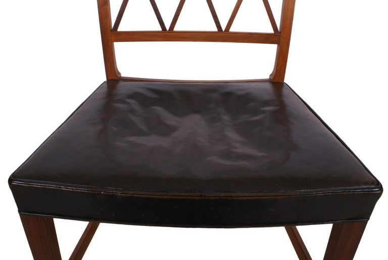 Ole Wanscher Set of 8 Dining Chairs, Rosewood by Cabinetmaker A.J. Iversen, 1942 For Sale 6