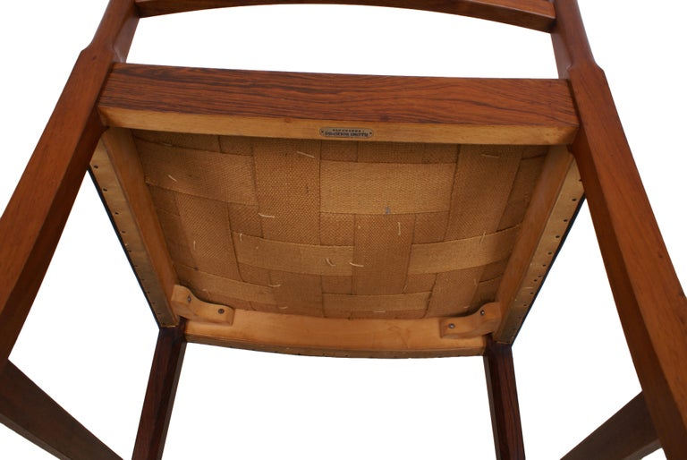 Ole Wanscher Set of 8 Dining Chairs, Rosewood by Cabinetmaker A.J. Iversen, 1942 For Sale 7