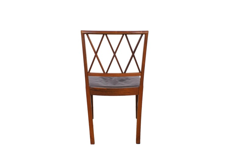 Danish Ole Wanscher Set of 8 Dining Chairs, Rosewood by Cabinetmaker A.J. Iversen, 1942 For Sale