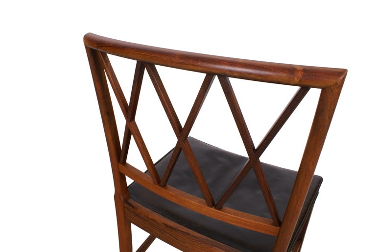 Ole Wanscher Set of 8 Dining Chairs, Rosewood by Cabinetmaker A.J. Iversen, 1942 In Excellent Condition For Sale In Copenhagen, DK