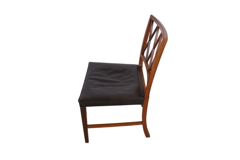 Mid-20th Century Ole Wanscher Set of 8 Dining Chairs, Rosewood by Cabinetmaker A.J. Iversen, 1942 For Sale