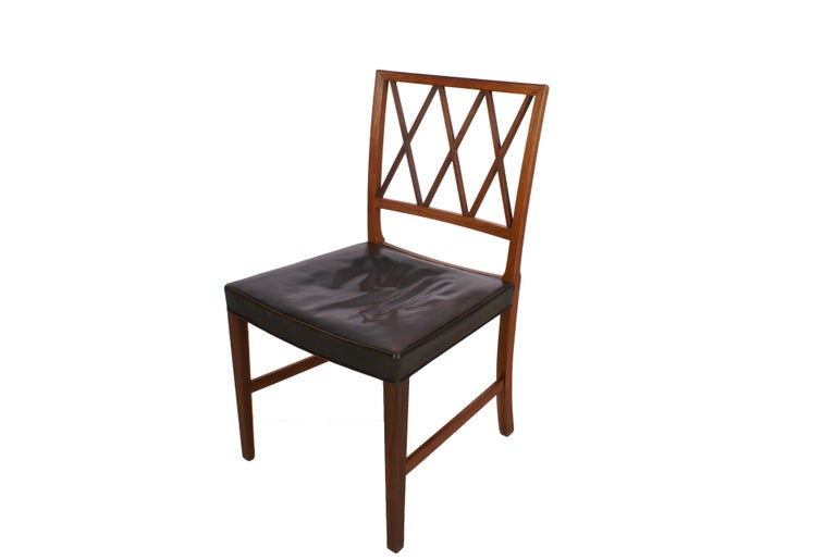 Ole Wanscher Set of 8 Dining Chairs, Rosewood by Cabinetmaker A.J. Iversen, 1942 For Sale 2