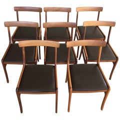 Ole Wanscher Set of Eight Refinished Mahogany Dining Chairs, Inc. Re-upholstery