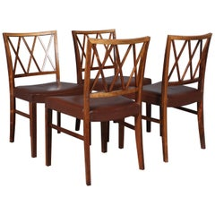Ole Wanscher Set of Four Dining Chairs in Rosewood