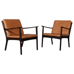 Ole Wanscher Set of Lounge Chairs, Model PJ112, Rosewood
