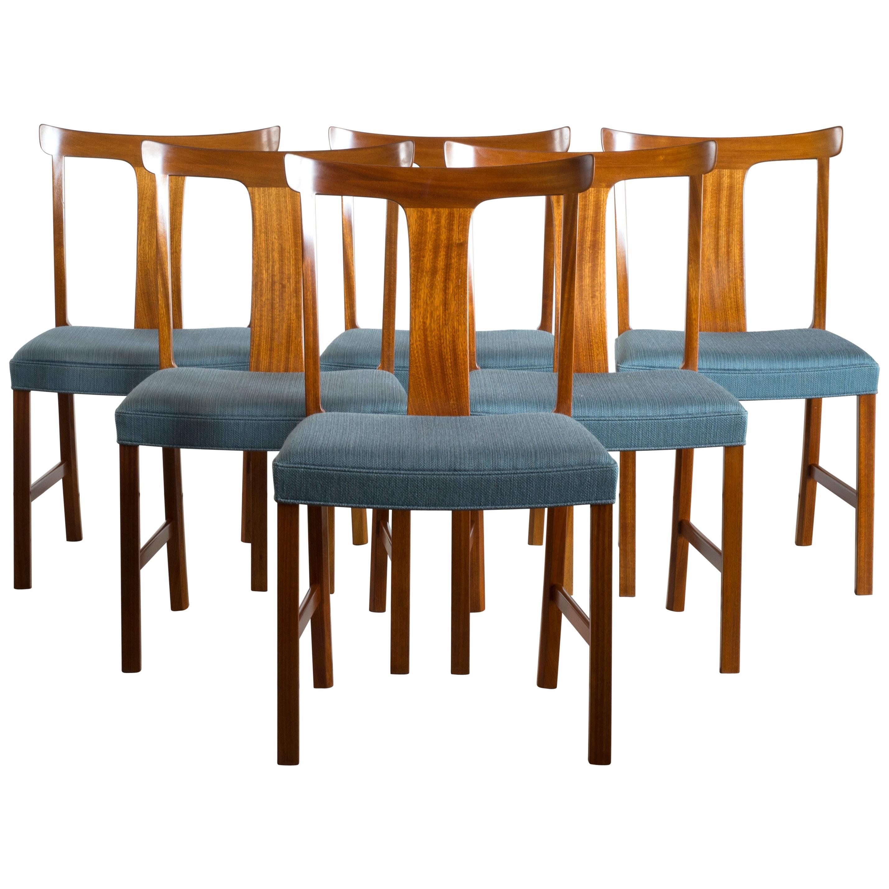 Ole Wanscher Set of Six Benedikte Chairs for A.J. Iversen