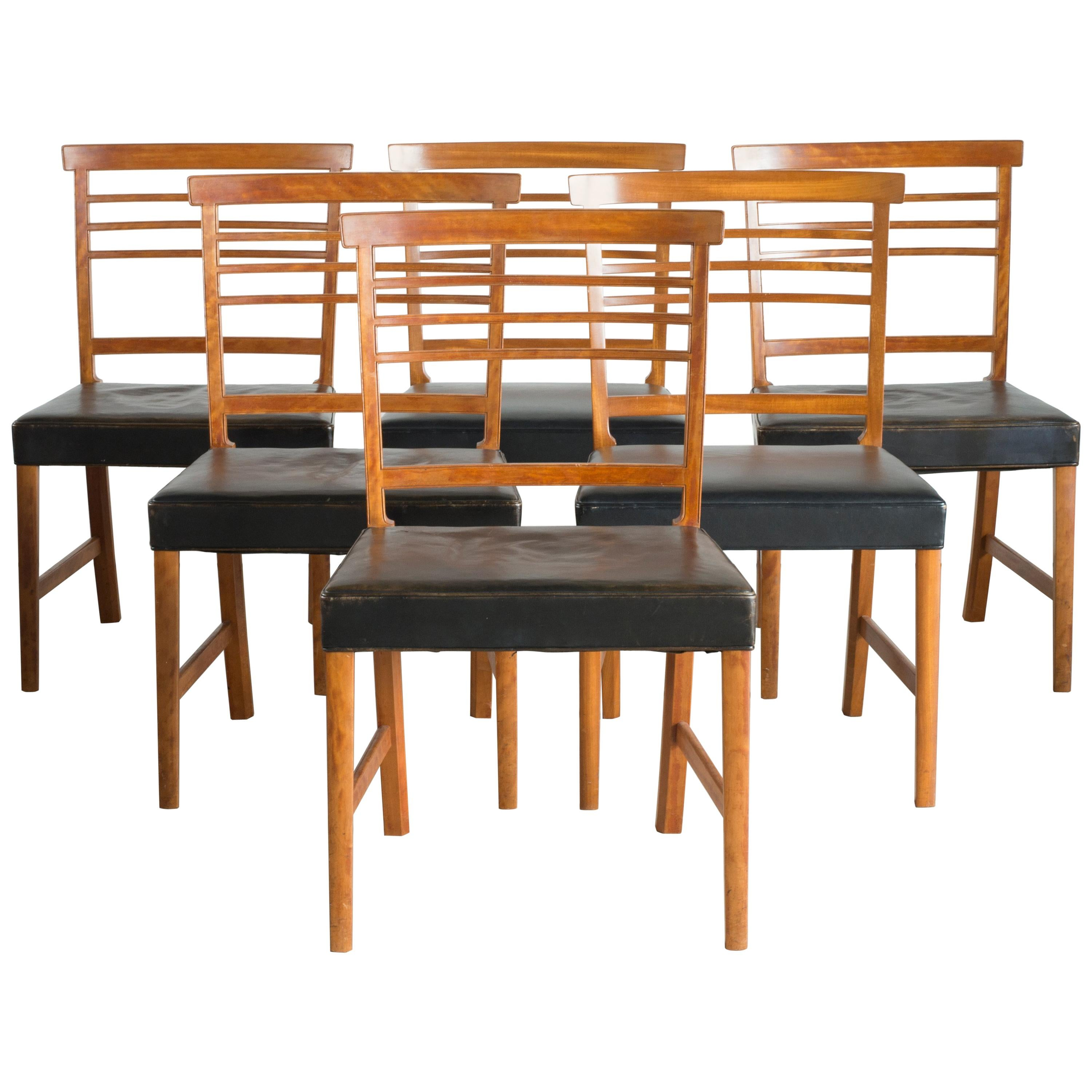 Ole Wanscher Set of Six Chairs for a. J. Iversen