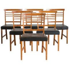 Ole Wanscher Set von Sechs Stühlen für A. J. Iversen