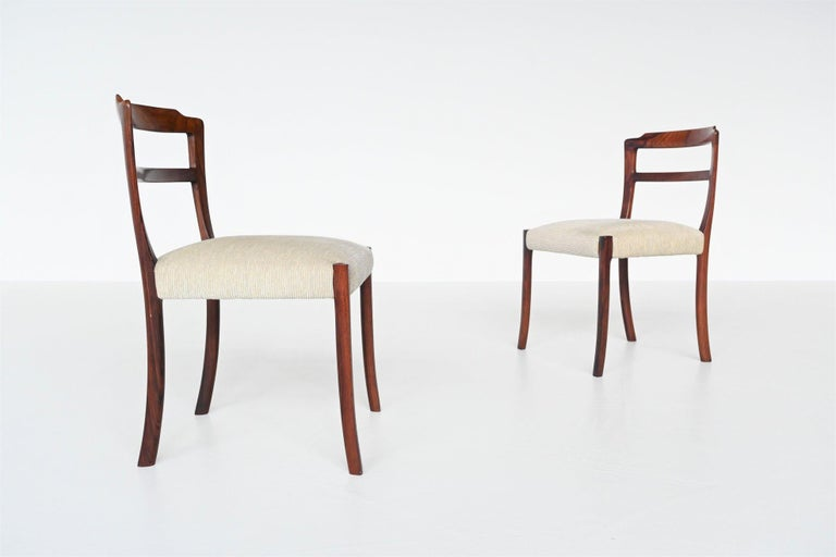 Ole Wanscher Set of Six Rosewood Dining Chairs A.J. Iversen, Denmark, 1960 For Sale 3