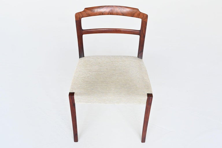 Ole Wanscher Set of Six Rosewood Dining Chairs A.J. Iversen, Denmark, 1960 For Sale 4