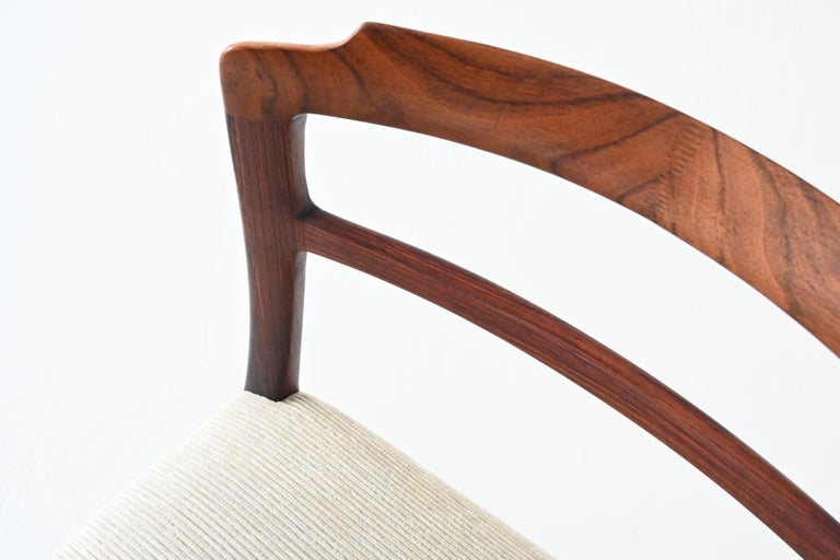 Ole Wanscher Set of Six Rosewood Dining Chairs A.J. Iversen, Denmark, 1960 For Sale 5