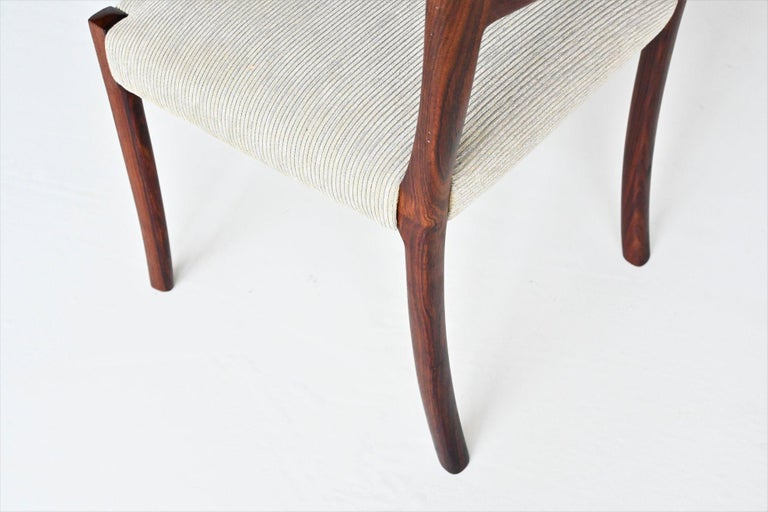 Ole Wanscher Set of Six Rosewood Dining Chairs A.J. Iversen, Denmark, 1960 For Sale 6