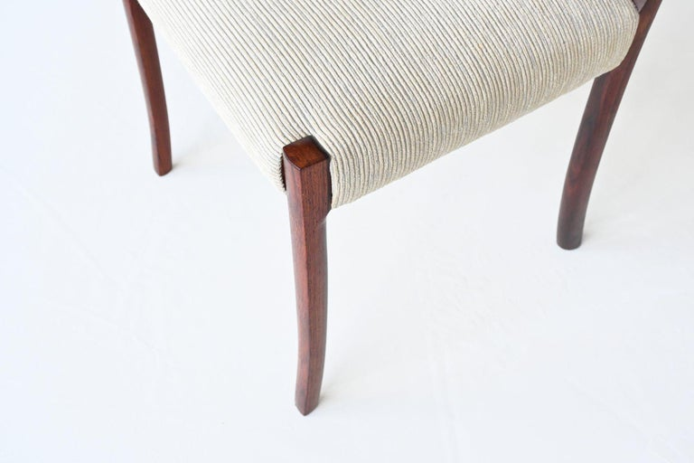 Ole Wanscher Set of Six Rosewood Dining Chairs A.J. Iversen, Denmark, 1960 For Sale 7