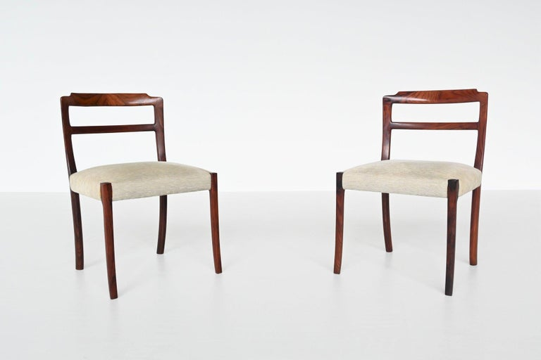 Ole Wanscher Set of Six Rosewood Dining Chairs A.J. Iversen, Denmark, 1960 For Sale 1