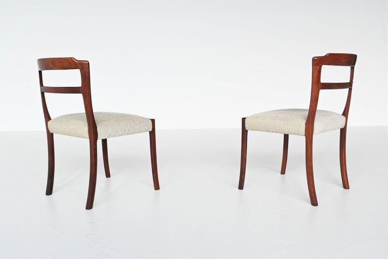 Ole Wanscher Set of Six Rosewood Dining Chairs A.J. Iversen, Denmark, 1960 For Sale 2