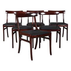 Ole Wanscher Set of Six Rungstedlund Dining Chairs