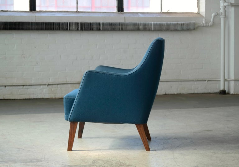 Mid-20th Century Ole Wanscher Style Danish 1960s Lounge Chair