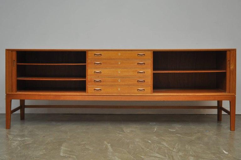 Mid-Century Modern Ole Wanscher Teak Credenza For Sale