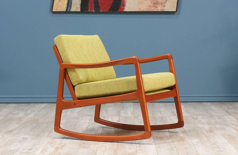Ole Wanscher Teak Rocking Chair For France And S 248 N At 1stdibs