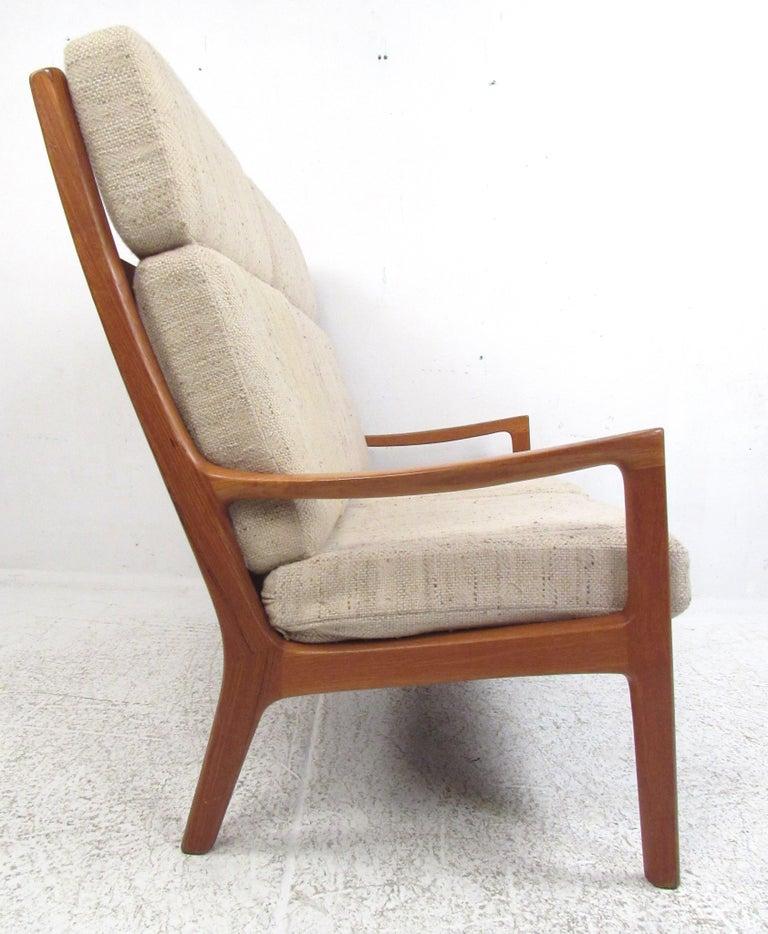 Scandinavian Modern Ole Wanscher Teak 'Senator' Sofa For Sale
