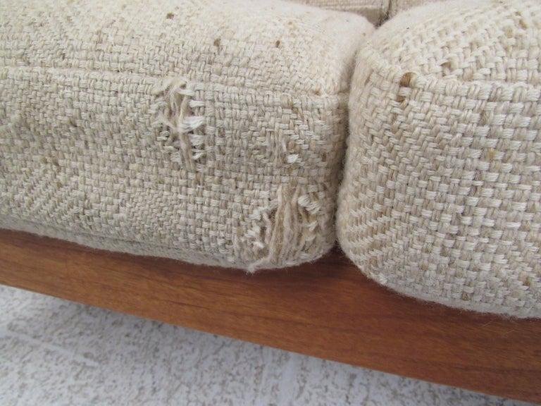 Upholstery Ole Wanscher Teak 'Senator' Sofa For Sale