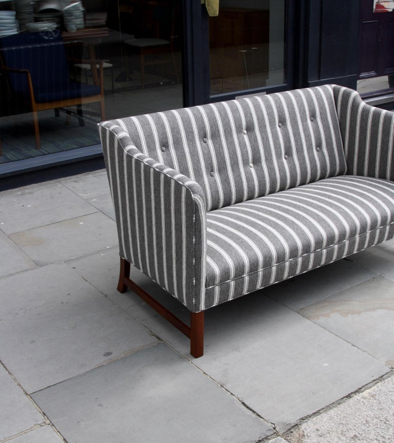 Ole Wanscher Three-Seat Settee Made by A.J. Iversen For Sale 2