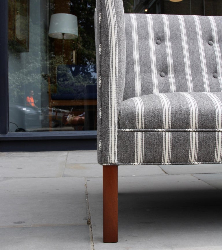 Ole Wanscher Three-Seat Settee Made by A.J. Iversen For Sale 4