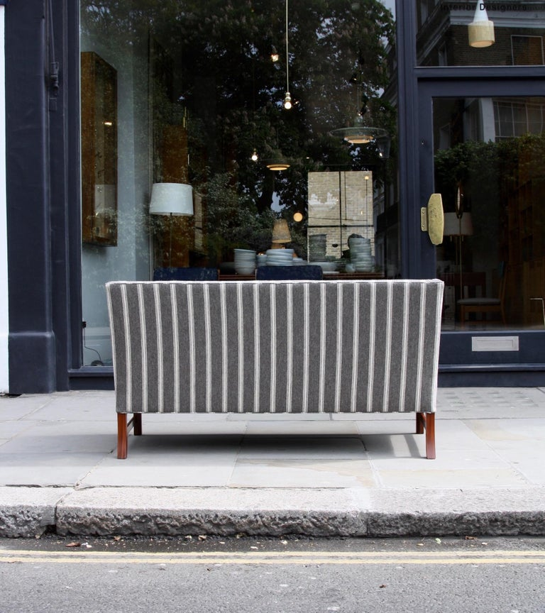Ole Wanscher Three-Seat Settee Made by A.J. Iversen For Sale 5