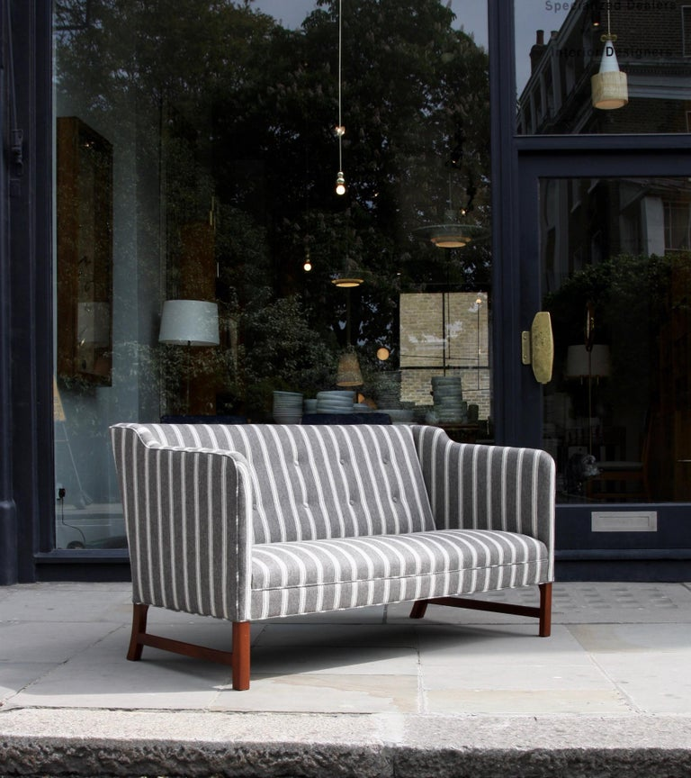 Ole Wanscher Three-Seat Settee Made by A.J. Iversen For Sale 6